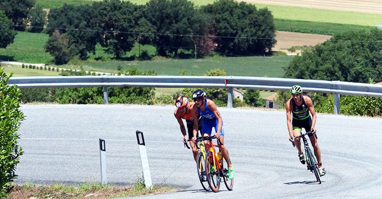 parte ciclismo triathlon della Senigallia Deejay Tri