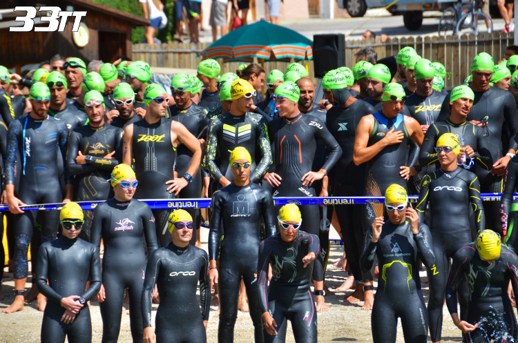 triathlon Lavarone partenza nuoto