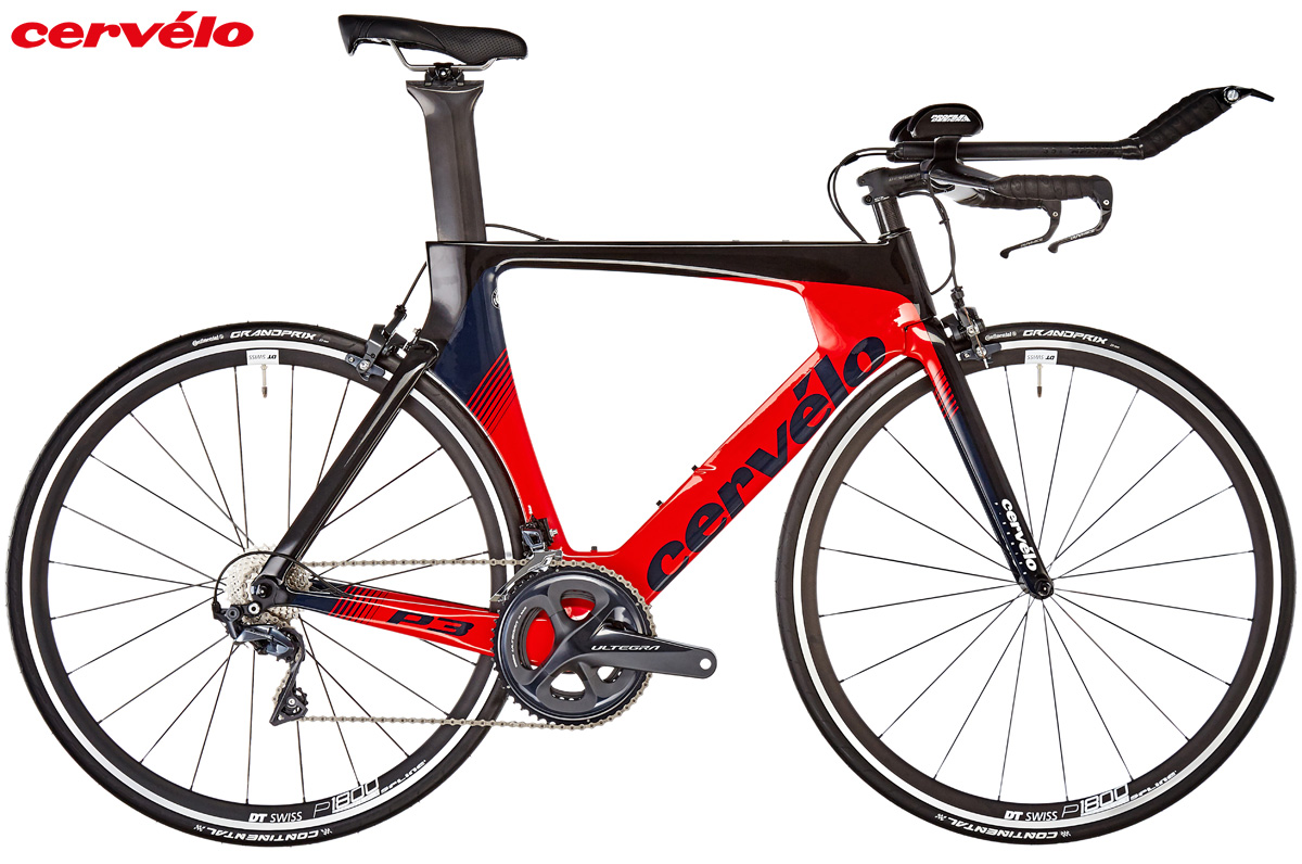 Una bici da triathlon Cervélo P3 Ultegra 8000 anno 2019