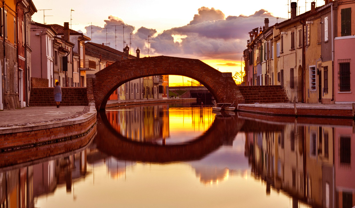 Un tramonto a Comacchio