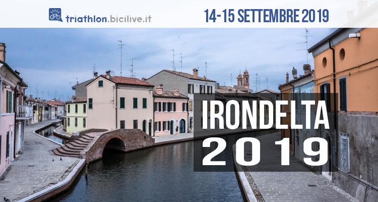 Irondelta 2019: gara triathlon al Lido delle Nazioni di Comacchio il 14-15 settembre