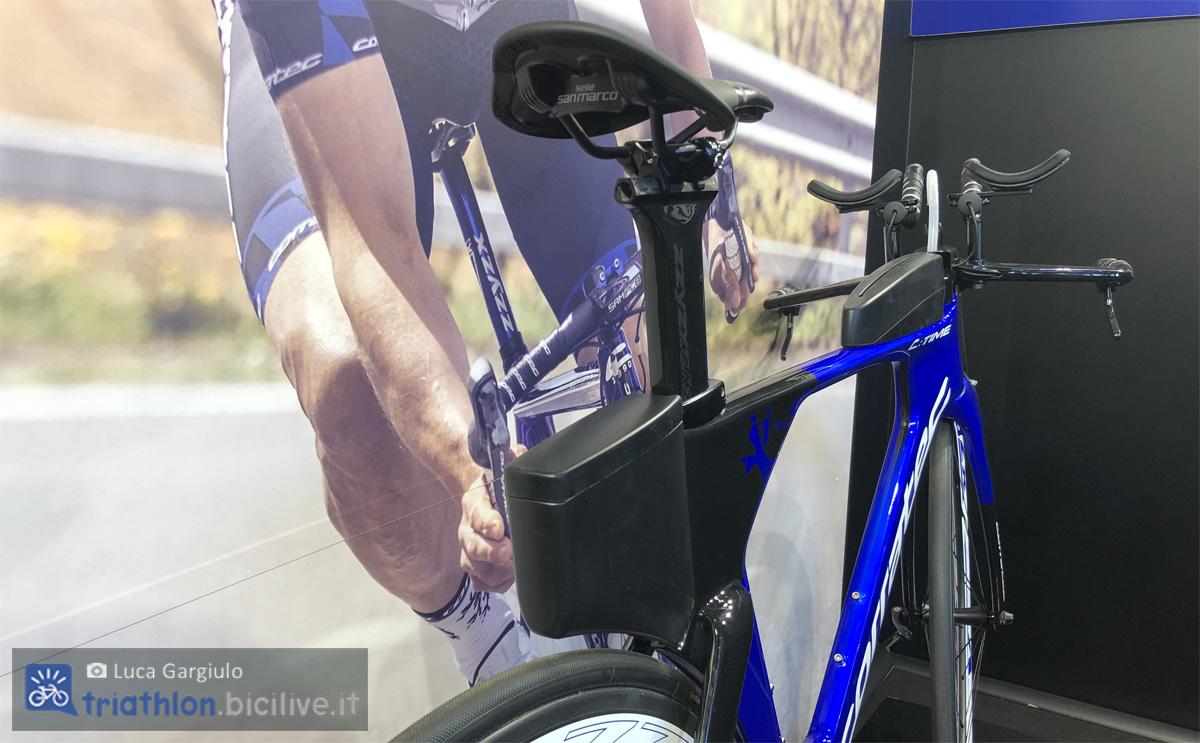 La parte posteriore della bicicletta C:Time 2020 di Corratec