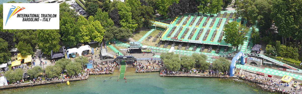 La zona di partenza del Triathlon di Bardolino