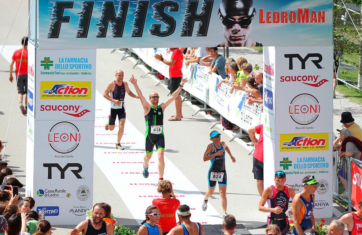 L'Arrivo della gara di Triathlon di Ledro