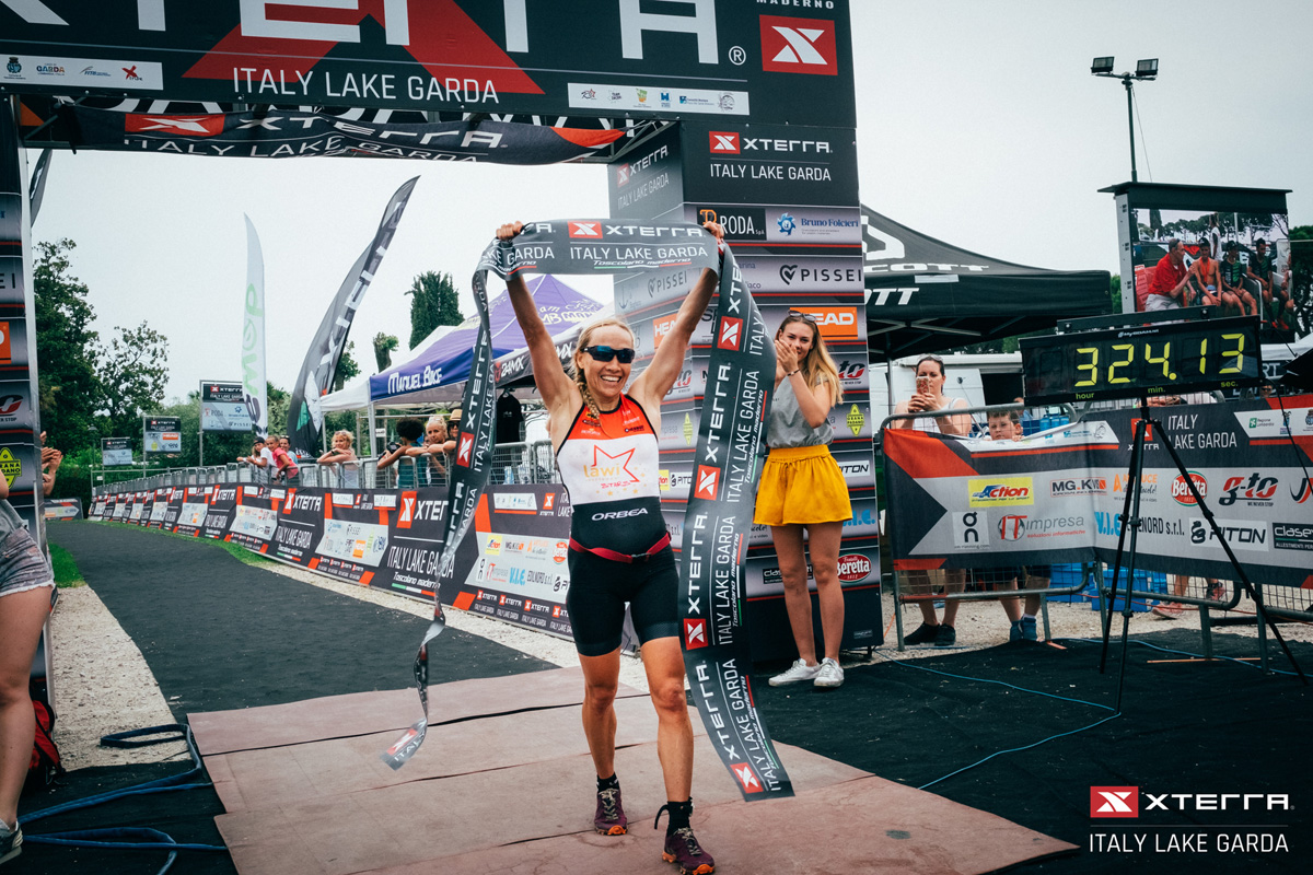 L'Arrivo della gara Triathlon cross XTERRA Lago di Garda