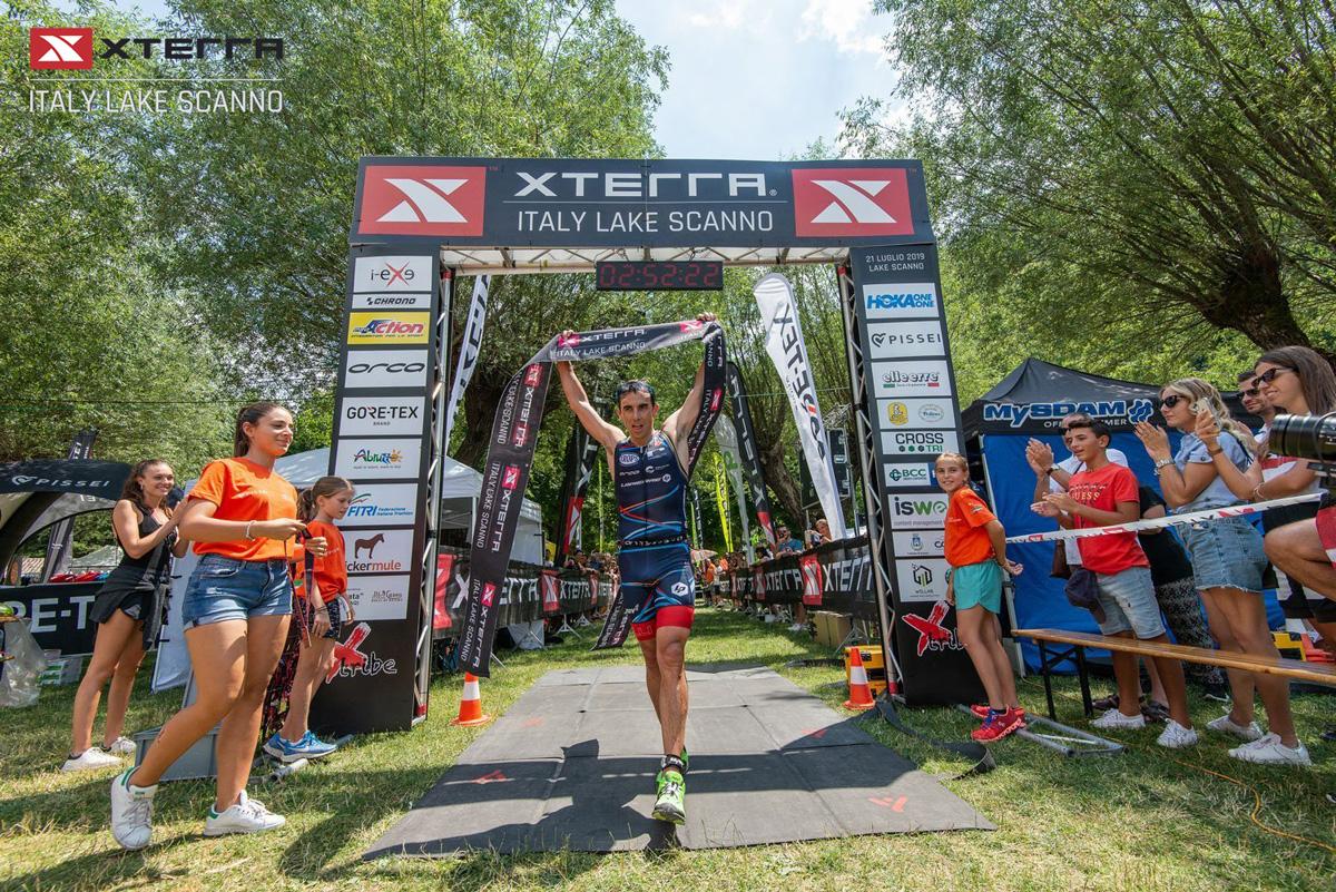 L'Arrivo della gara Triathlon cross XTERRAdi Scanno
