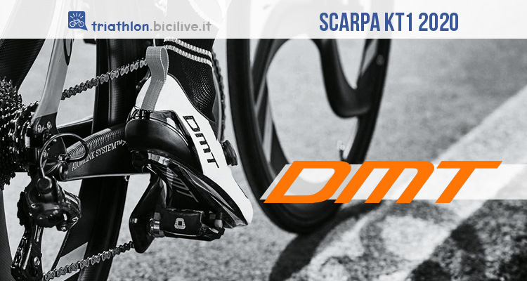 DMT KT1 2020: scarpa ciclismo Engineered Knit per triathlon