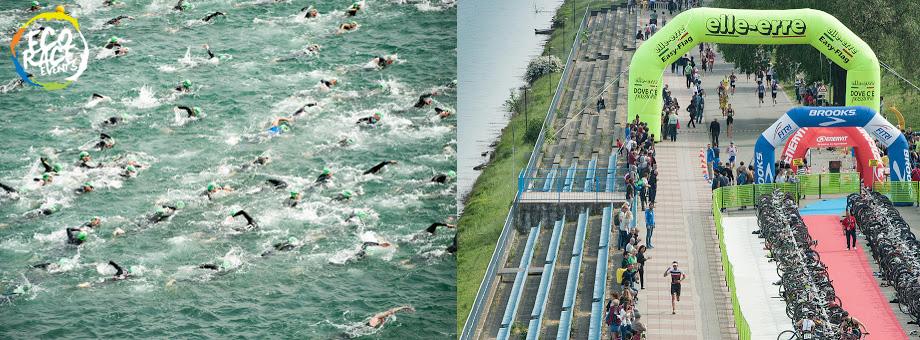 Attimi di gara in una precedente edizione del Triathlon Olimpico Milano