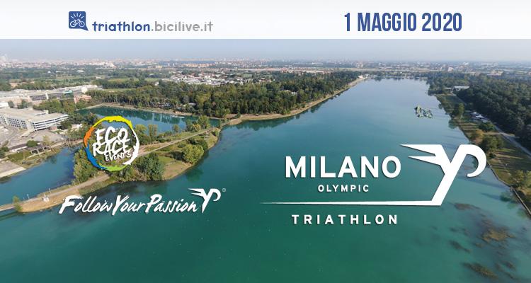 Triathlon Olimpico Milano 2020: il primo maggio all'Idroscalo