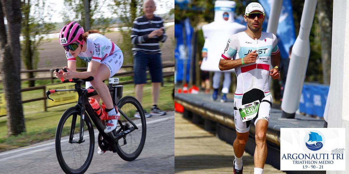 Atleti in gara al Triathlon Medio Porto degli Argonauti