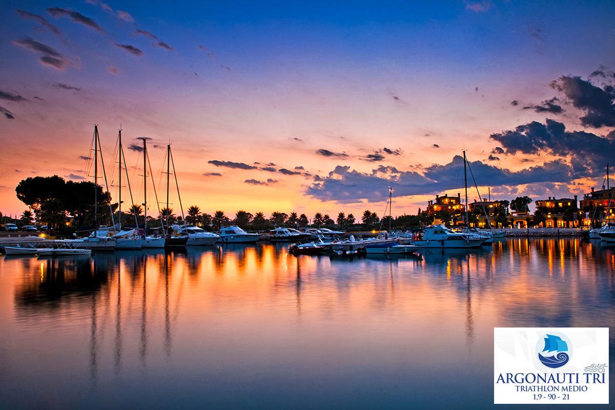 Il Porto degli Argonauti al tramonto