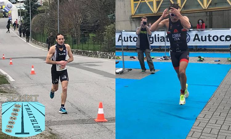 Atleti della triplice disciplina in gara al Triathlon Sprint di Barzanò