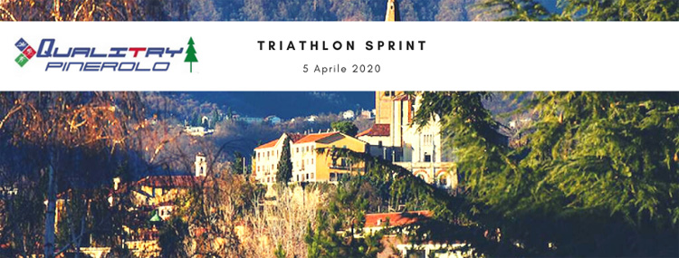 Immagine promozionale del Triathlon Sprint Città di Pinerolo 2020