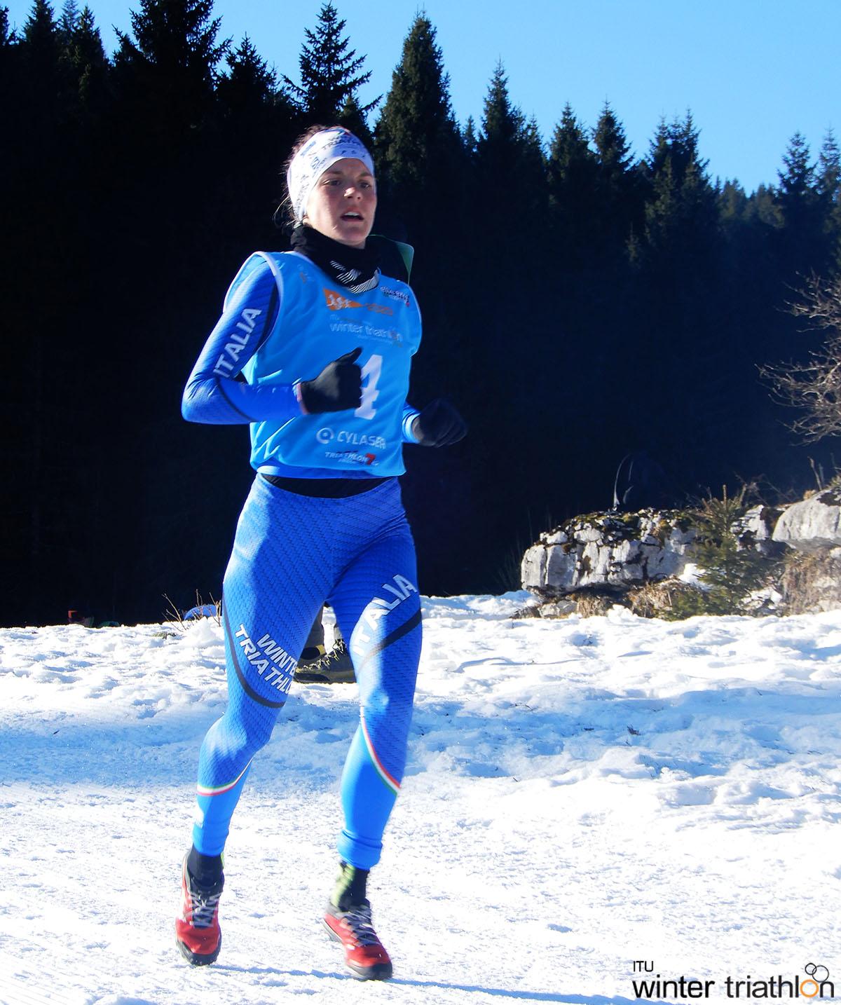 La nostra atleta di punta Sandra Mairhofer impegnata  nella corsa
