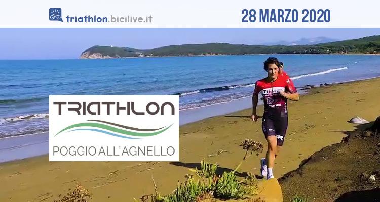 Triathlon Sprint Poggio all'Agnello: gara sabato 28 marzo 2020