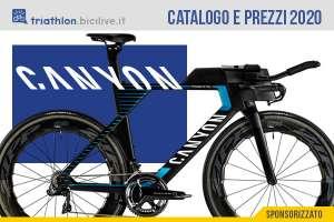 Le bici triathlon e crono 2020 di Canyon: catalogo e listino prezzi