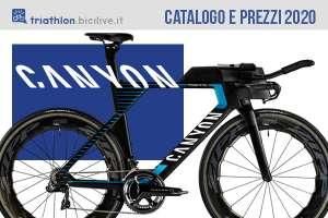 Canyon bici triathlon e crono 2020: catalogo e listino prezzi
