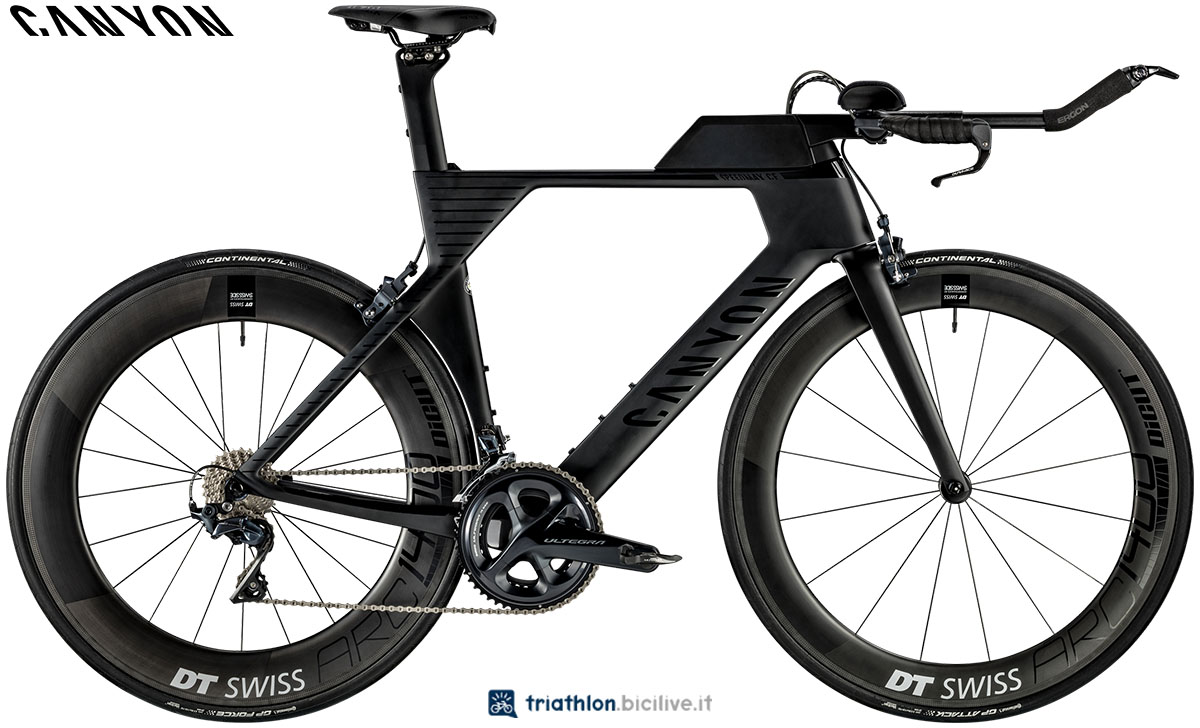 Una bici Canyon Speedmax CF 8.0 SL 2020
