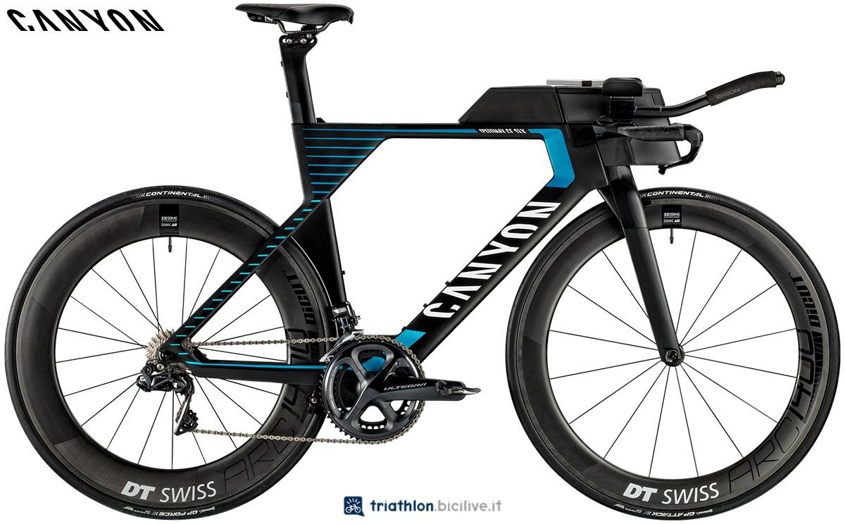 Una bici Canyon Speedmax CF SLX 8.0 SL 2020