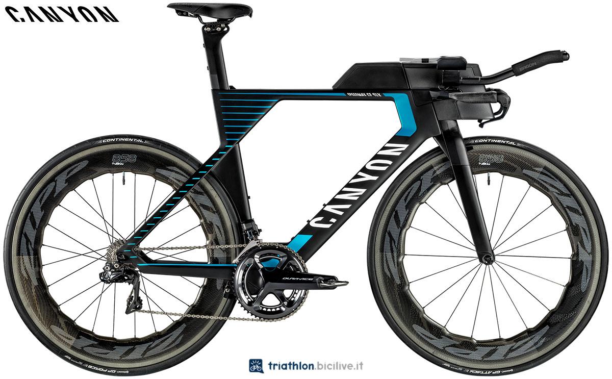 Una bici Canyon Speedmax CF SLX 9.0 LTD 2020