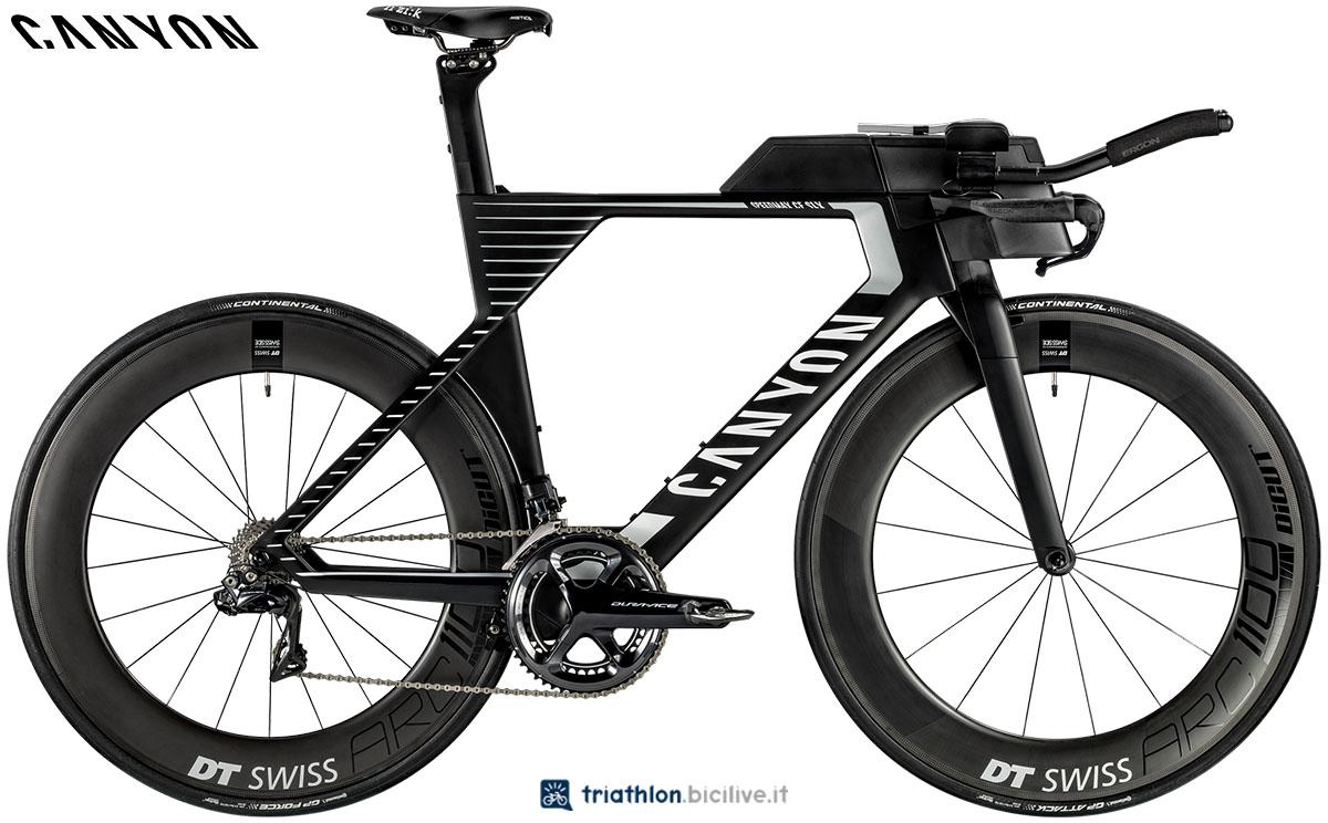 Una bici Canyon Speedmax CF SLX 9.0 SL 2020