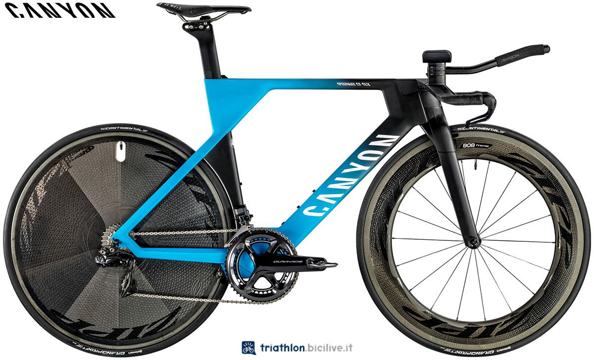 Una bici Canyon Speedmax CF SLX 9.0 TT 2020