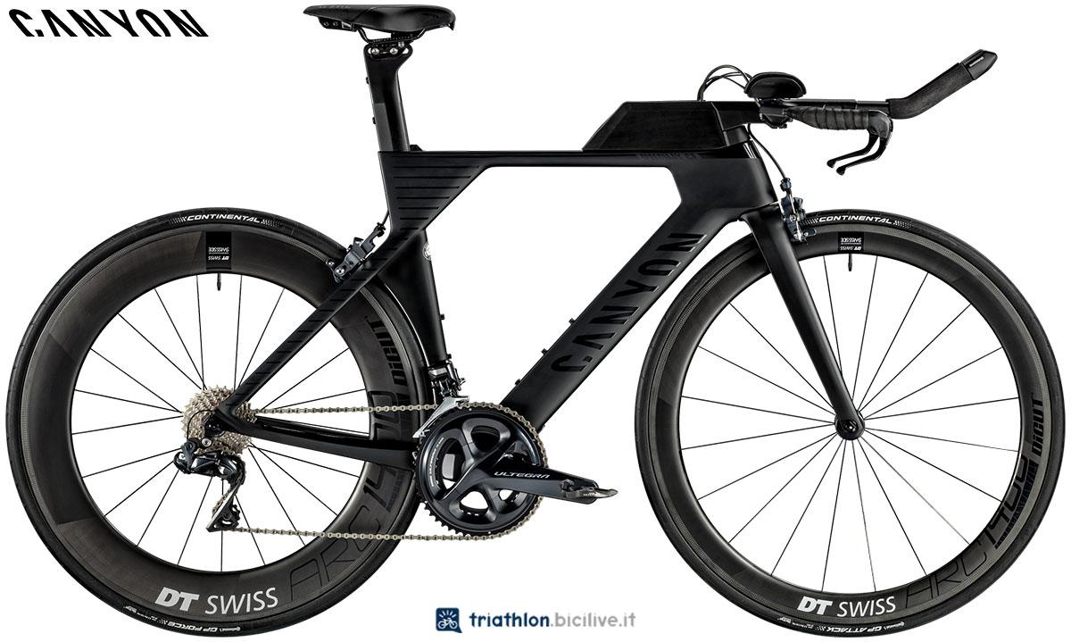 Una bici Canyon Speedmax WMN CF 8.0 Di2 2020