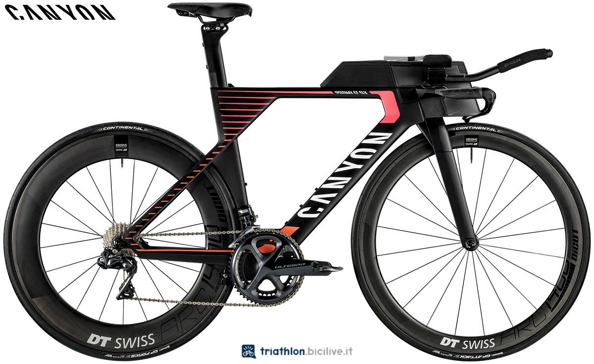 Una bici Canyon Speedmax WMN CF SLX 8.0 SL 2020
