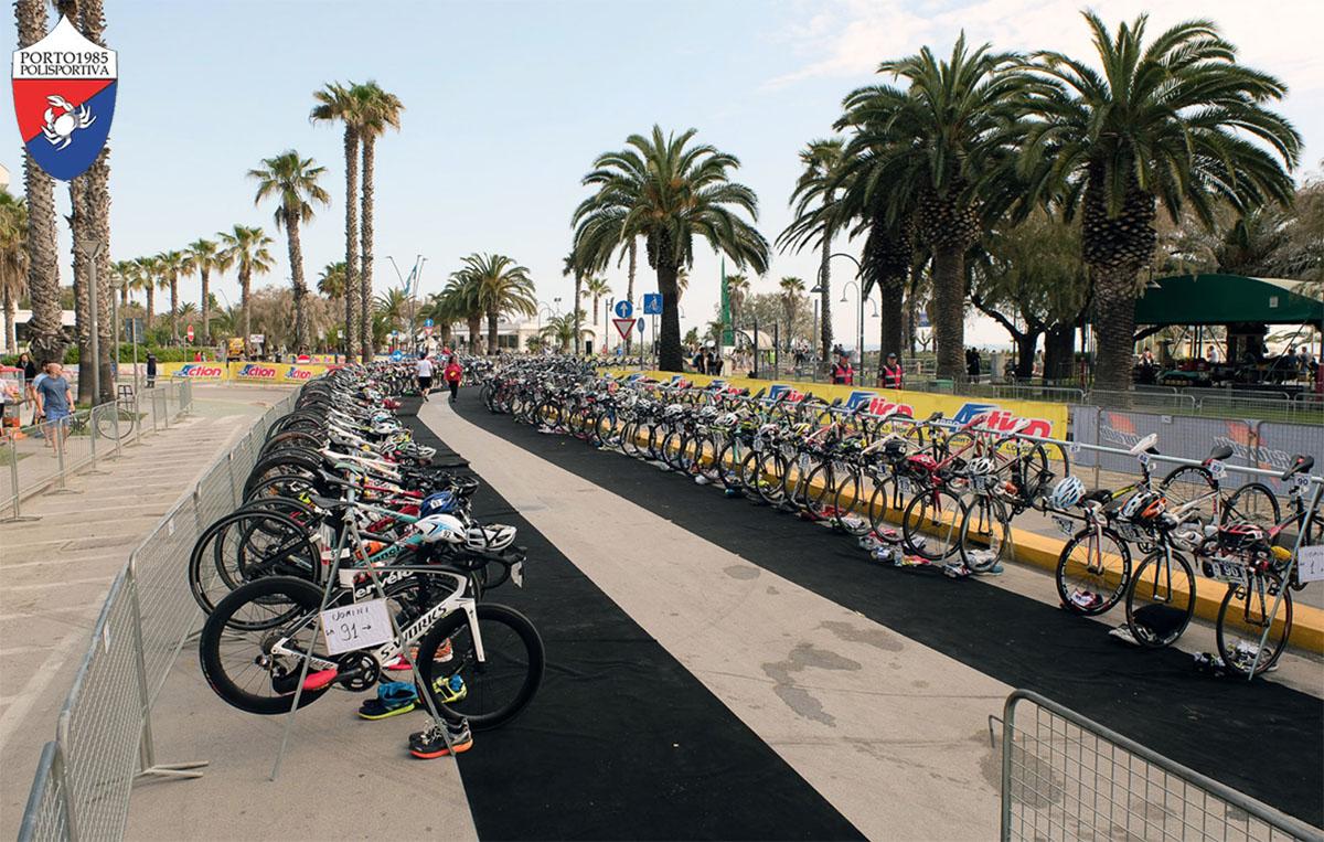 Il campo gara del Triathlon Olimpico Silver Città di San Benedetto del Tronto 2020