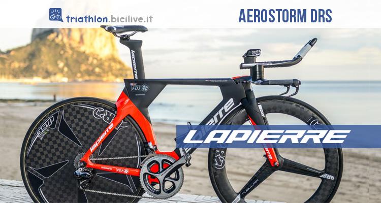 Lapierre Aerostorm DRS: bicicletta aerodinamica per triathlon e crono