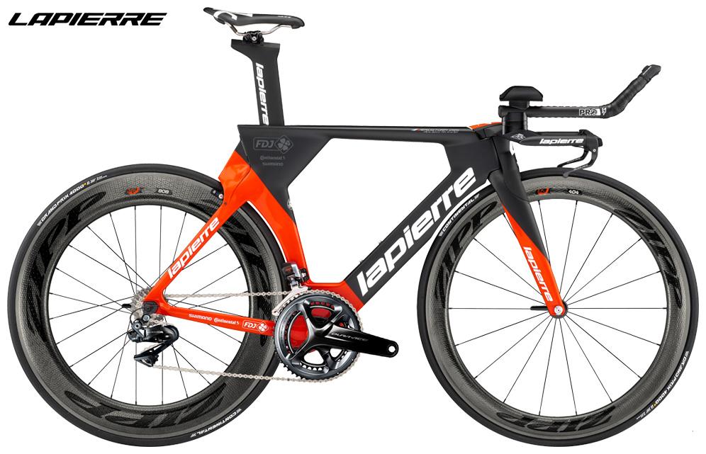 Una bici da triathlon Lapierre Aerostorm DRS