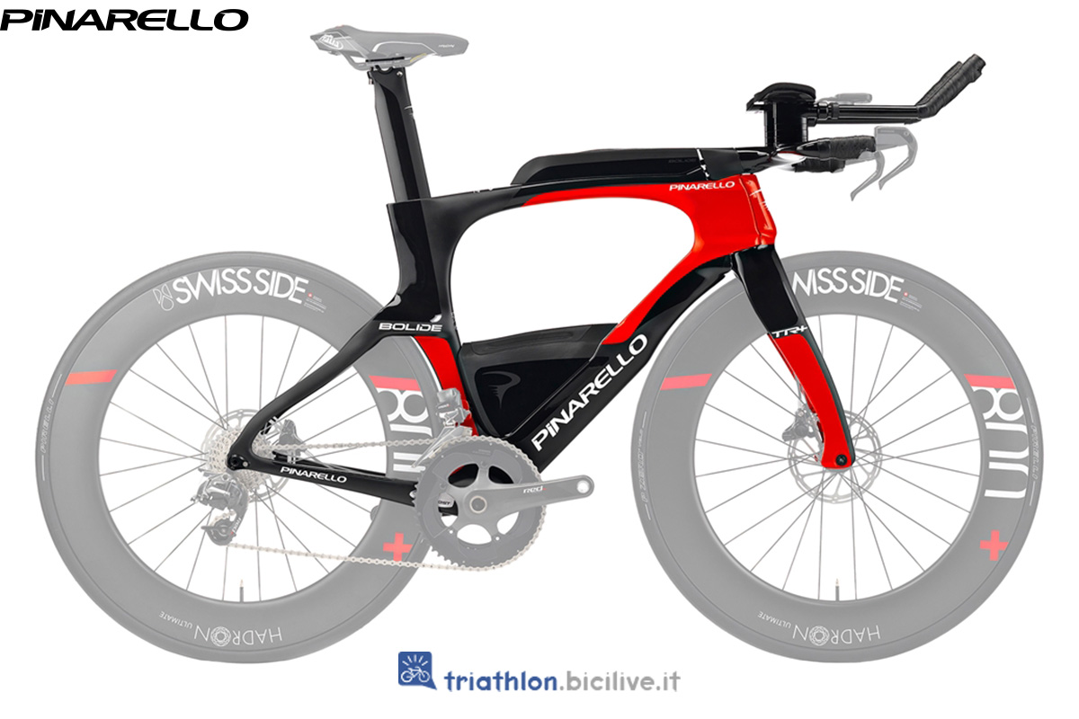 Bici Pinarello Bolide TR+ di profilo