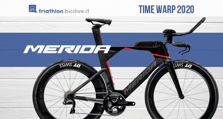 Merida Time Warp Tri: bici da triathlon ad alta tecnologia