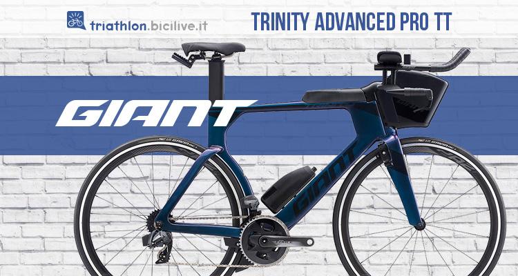Bicicletta da triathlon Giant Trinity Advanced Pro TT