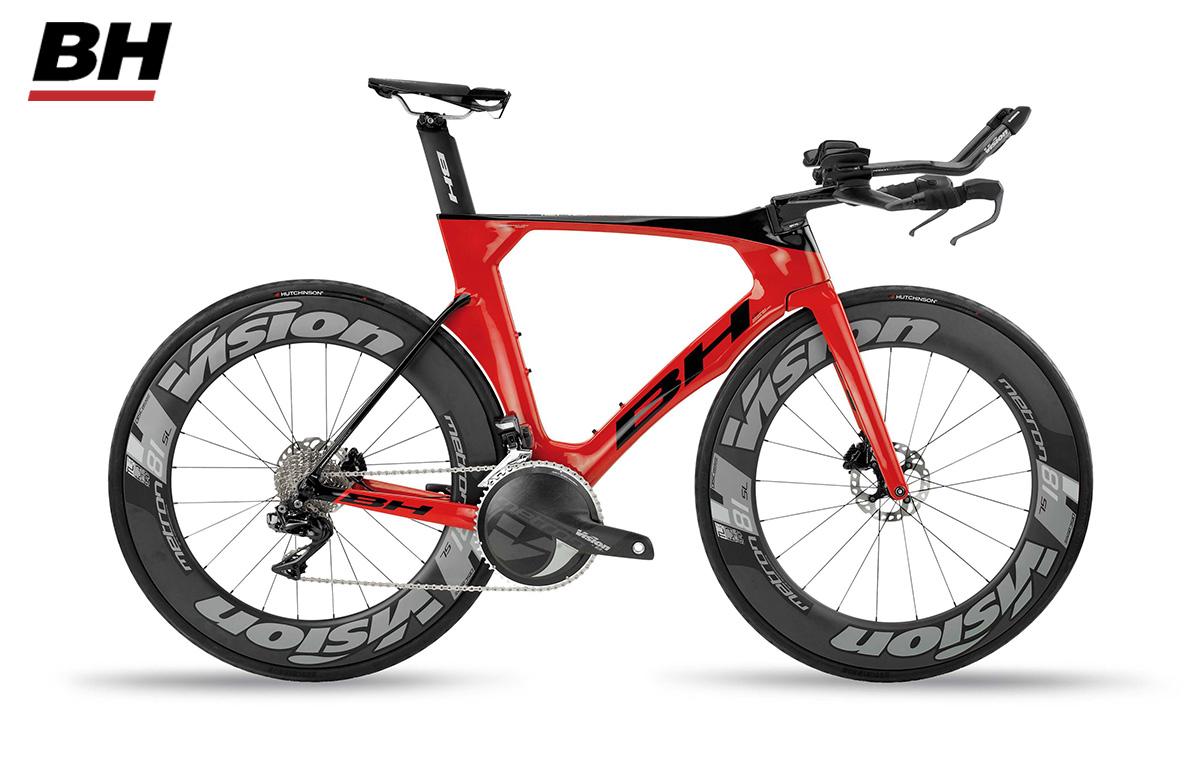 Bici da triathlon BH Aerolight 6.0 modello 2020 con il gruppo Shimano Dura-Ace Di2