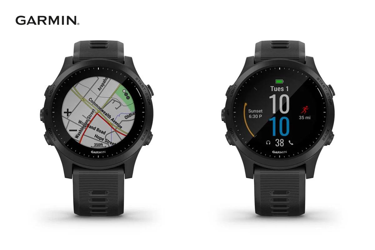Schermata mappe e principale dello smartwatch Garmin Forerunner 945