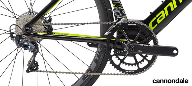 La trasmissione Shimano Ultegra equipaggiata su uno dei due modelli della bici Cannondale SuperSlice