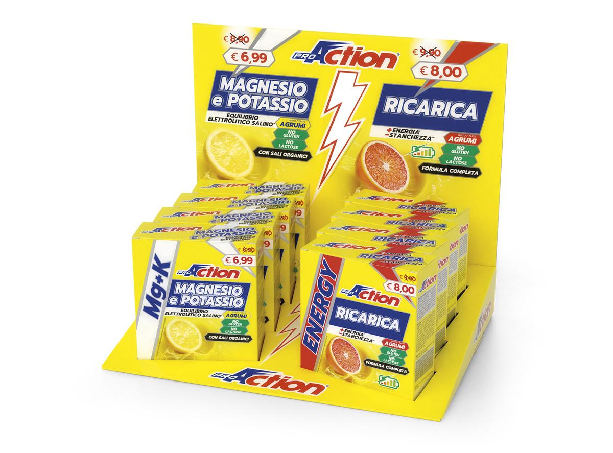 Set di confezioni di ProAction Magnesio&Potassio e Ricarica