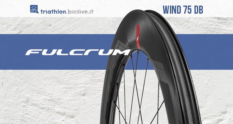Ruote aerodinamiche ad alto profilo Fulcrum Wind 75 DB