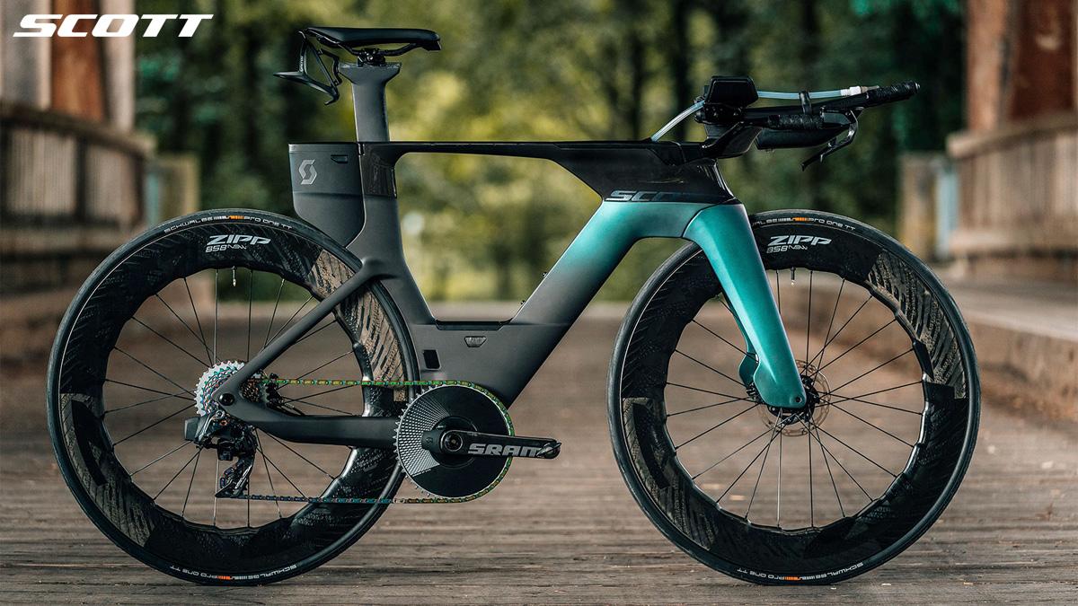 Una bici da triathlon e crono Scott Plasma 6 Premium 2021