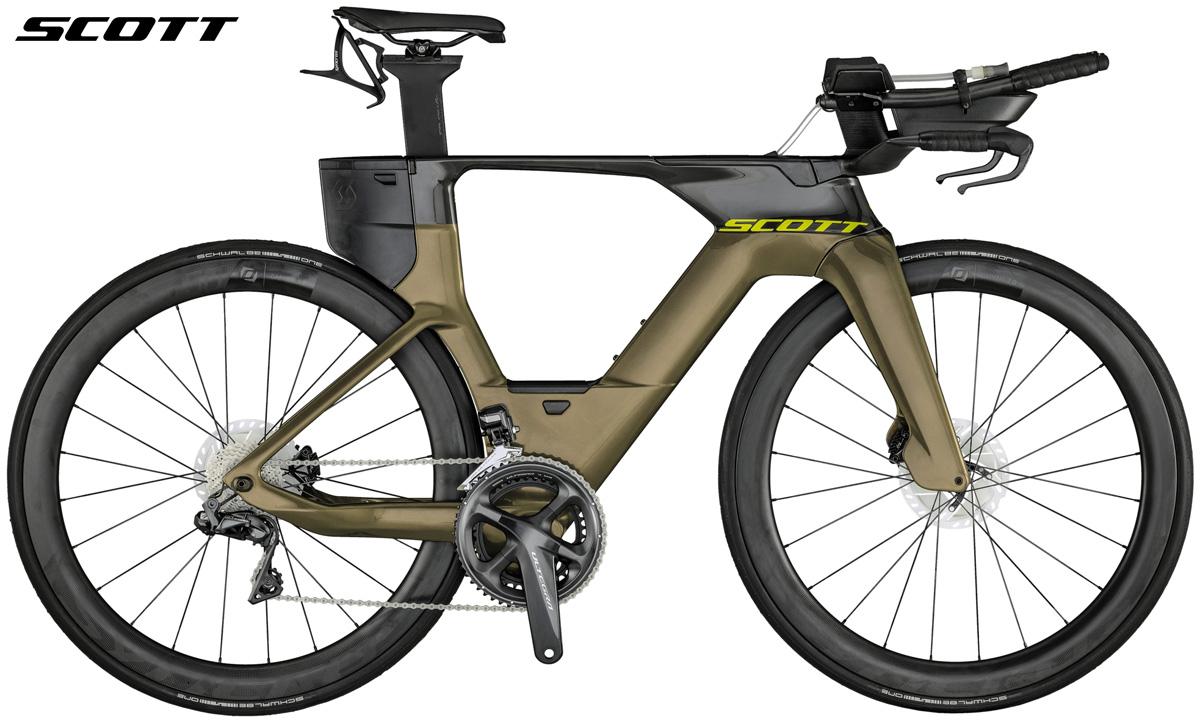 Una bicicletta da triathlon e crono Scott Plasma 6 RC 2021