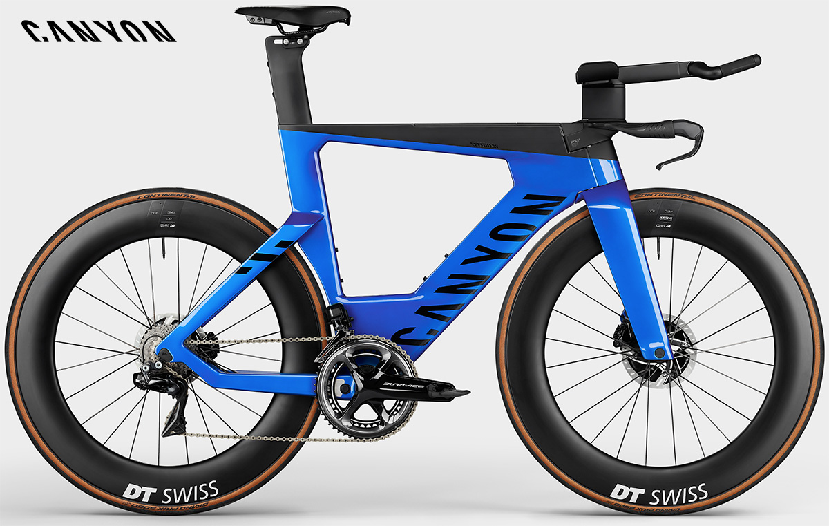 La nuova bici da triathlon Canyon Speedmax CFR Durace Di2 Disc 2021