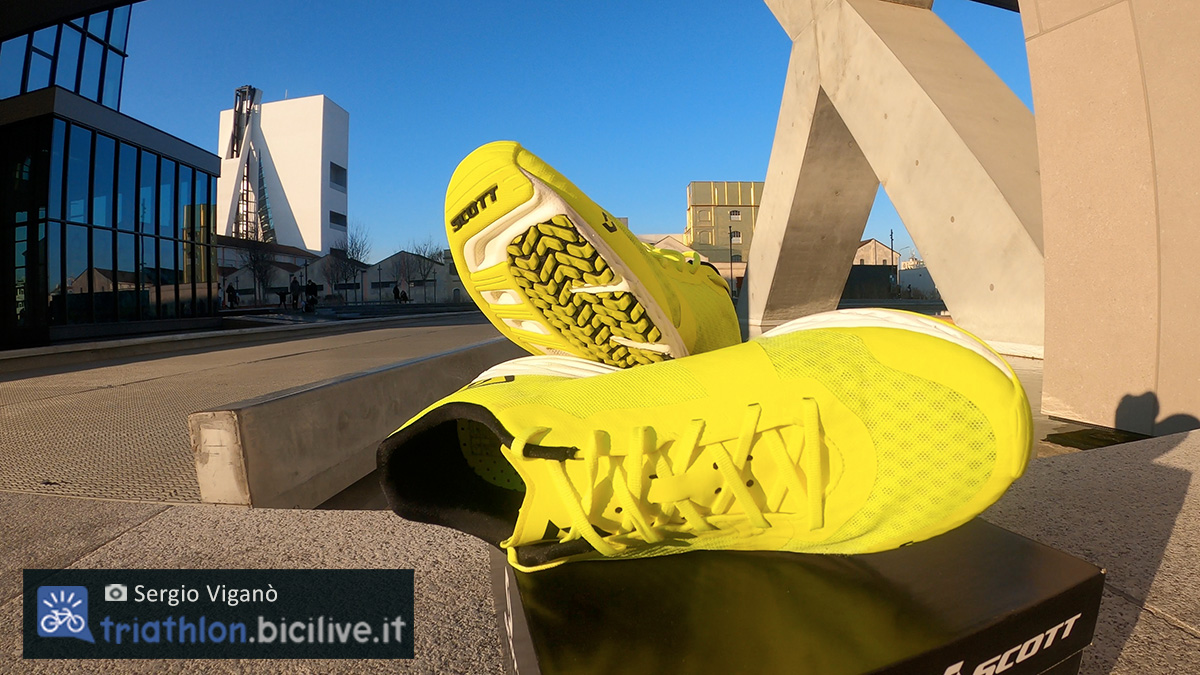 Le scarpe da corsa Scott Palani RC 2 testate dal redattore BiciLive Sergio Viganò