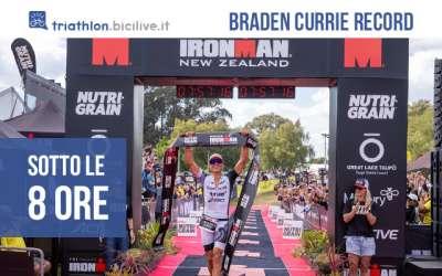 Ilrecord di Braden Currie sotto le 8 ore durante la Ironman New Zealand 2021