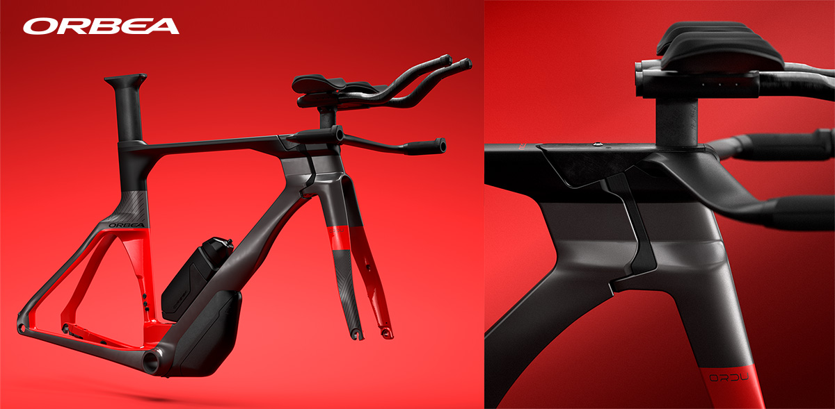 Dettaglio del telaio della nuova bici da triathlon Orbea Ordu M20LTD 2021